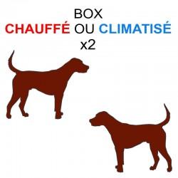 Pension box de 2 chiens de même famille chauffé ou climatisé