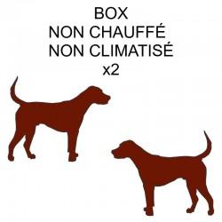Pension box de 2 chiens de même famille non chauffé ou non climatisé