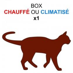 Pension box de 1 chat de même famille chauffé ou climatisé