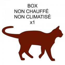 Pension box de 1 chat de même famille non chauffé ou non climatisé