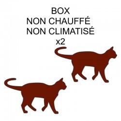 Pension box de 2 chats de même famille non chauffé ou non climatisé