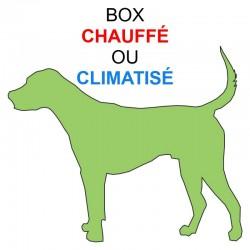 Pension box de 1 à 3 chiens de même famille chauffé ou climatisé